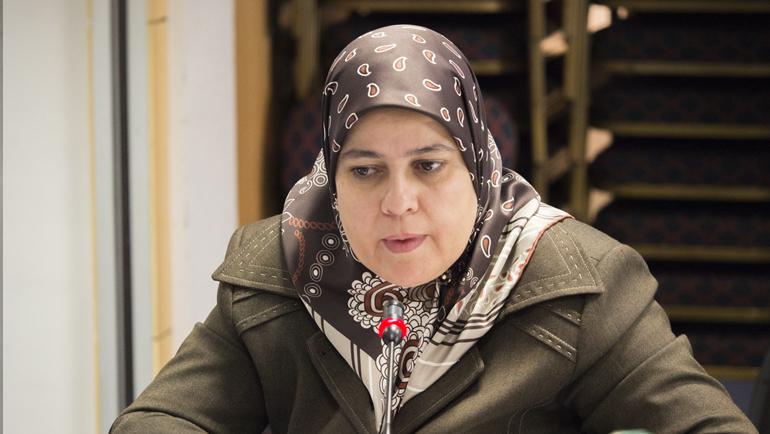 دة. فريدة زمرد مشرفة على تسير أعمال مركز الدراسات والأبحاث في القضايا النسائية في الإسلام
