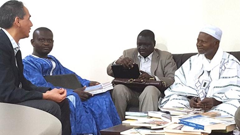 زيارة وفد أكاديمي إفريقي لمركز الجنيد