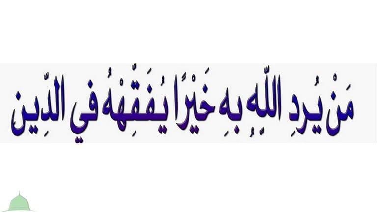 من يرد الله به خيرا يفقهه في الدين